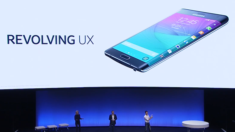 Galaxy Note Edge with a smart bend
