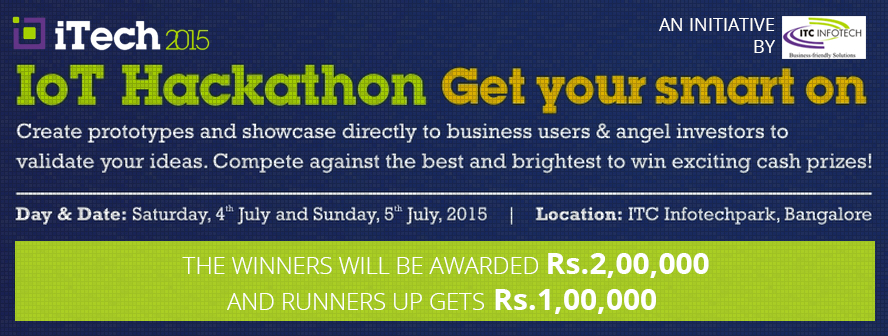 ITC Infotech announces iTech2015 with an IoT Hackathon